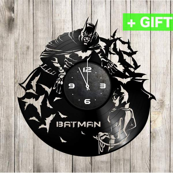 Batman vinyl clock