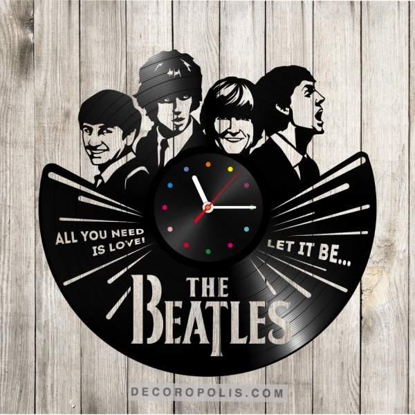 Beatles Lyrics Quotes Clock Vinyl Record Lp Decoropolis