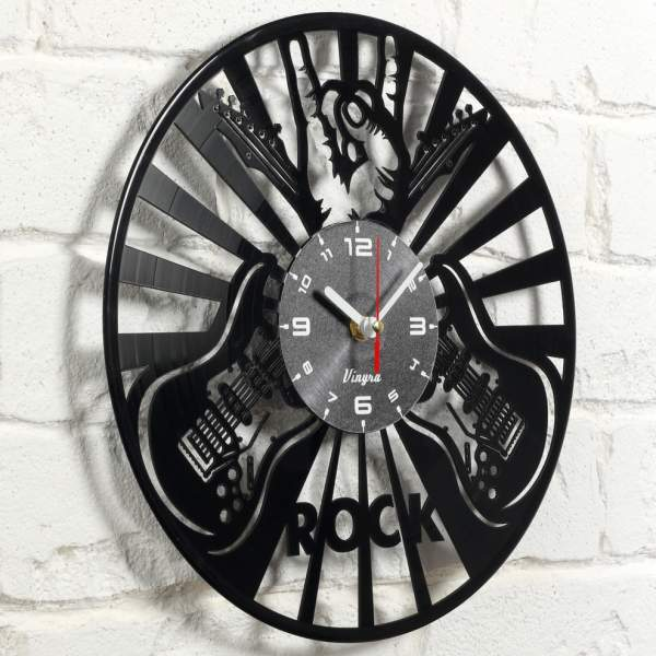 Rock vinyl clock image