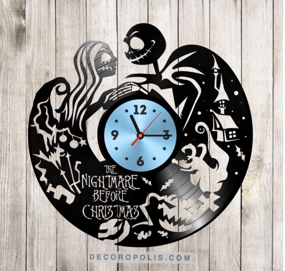 Jack Skellington clock vinyl record The Nightmare Before Christmas ...